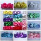 Baby/Girls/Ladies Bow Flower Hair Head Band Crochet New