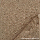 5 Metre Wide Carpet - Beige Brown - 100% Wool Berber Action Back Loop Lounge