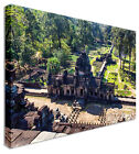 Large Ancient Buddhist Temple Cambodia Canvas Wall Art Print