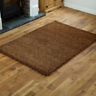 NEW EXTRA LARGE-LARGE-MEDIUM-SMALL AND CIRCLE 5cm THICK SHAGGY BEIGE RUG &RUNNER