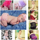 Newborn Baby Girls Hot Light Pink Chiffon Panties Ruffles Bloomers NB-12M
