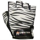 ZEBRA STRIPES WEIGHT LIFTING WORKOUT LEATHER GLOVES - Meister Training ALL SIZES