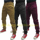Boys Original Chino Cuffed Cargo Canvas Jeans Authentic Preppy Designer Jogger