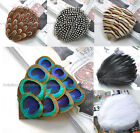 1pc Beautiful Big Genuine Feather Hair Clip 6-COLOR Great Quality Free Shipping
