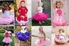 NWT GIRLS KIDS SKIRT PARTY DANCE TUTU DRESS PETTISKIRT 1-8Y FREE FLOWER HEADBAND