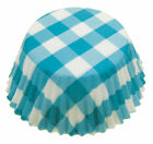 Gingham Cupcake / Cup Cake Bun Muffin Cases - Blue or Pink - Large Regular Size