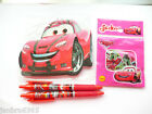 CARS Stationery Gift Set includes Car Shaped Note Book, 2 Pens + Bag of Stickers