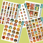 Mucha Collage Paper or Canvas- Tile Pendant, Cardmaking, Scrapbooking Crafts