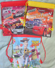 Toy Story 3 / Cars Drawstring Gym Bag, School Bag, Shoe Bag, Beach Bag, Toy Bag