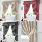 Gingham Check Pair of Kitchen Curtains