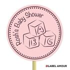 20 PERSONALISED Cup Cake Toppers ABC Blocks | Baby Shower | Cupcake Decoration