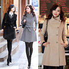 Hot Women's Fashion Wool Cashmere Winter Noble Long TRENCH Outwear  Coat 3 Color