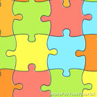 Jigsaw Vinyl Flooring Playful Kids Multi Colour Childrens Playroom Funky Lino 4m