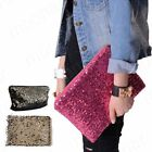 New Sequins Women's Cosmetic Clutchs Handbags Evening Party Bags Purse zip Close