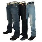 NEW MENS FORGE BY KAM DESIGNER BOOT CUT JEANS ALL WAIST AND LEG BIG KING SIZES
