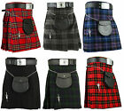 Scottish Mens Kilt Traditional Highland Dress Skirt Kilts Tartan Sporran
