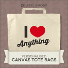 PERSONALISED Favour I Heart Name Party Gift Canvas Tote Bag | 3 sizes