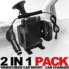 WINDSCREEN CAR MOUNT HOLDER,CAR CHARGER FOR VARIOUS BLACKBERRY MOBILE PHONE