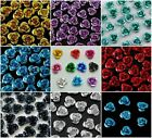 100Pcs Metallic Flower Rose Aluminum Spacer Beads 6mm Jewelry Making Crafts NEW