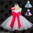 One Shoulder Dress Wedding Party Birthday Formal Girl Baby Size 3m-3y #199