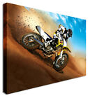 Dirt Bike Ride Desert Canvas Prints Wall Art Picture Large Any Size