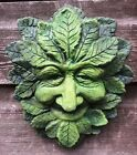 WISE GREEN MAN DECORATIVE WALL PLAQUE GREENMAN FROSTPROOF STONE HOME & GARDEN