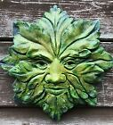 STAR GREEN MAN DECORATIVE WALL PLAQUE frostproof STONE Home or Garden Ornament