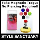 Fake Clip-on Magnetic Tragus Stud Earring Helix Ear Ring Flesh Plug Bar Piercing