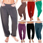 New Womens Ali Baba Plain Harem Leggings Ladies Trousers Hareem Plus Size 8 14 M