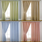 Pair of Blackout Header Tape/Pencil Pleat Curtains/Linings