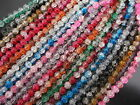 Beautiful Crackle Round Glass Beads In Variation Sizes & Colours UK Seller