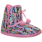 NEW WOMENS LADIES GIRLS FLUFFY FUR WARM COSY CORRIE SLIPPERS BOOTS SHOES 3-8 UK