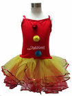 Clown Girl Ballet Dance Dress Tutu Leotard Skirt Headband Costume Party Age 1-9