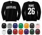 Grizzlies Adult Crewneck Sweatshirt Personalized Custom Name & Number