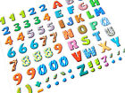 16mm Coloured Sticky Letters or Numbers Stickers Self Adhesive Stick on Labels