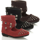 GIRLS BABY KIDS TODDLER SUEDE PARTY FLAT ANKLE CUFF ZIP SHOES BOOTS SIZE