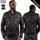 Aviatrix Jim Military Style Casual Washed Soft Geniune Leather Jacket Army Look
