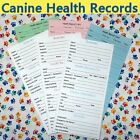 1 to 140 Pack Canine / Puppy / Dog Vaccine Health Records GREEN-PINK-BLUE
