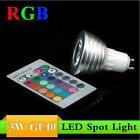 3/5/9/12/20x GU10/E27 3W Remote RGB LED 16 Color Changing Home Bulb Light Lamp