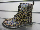 Girls Tan Leopard Lace/Zip Up Spot On Boot UK Sizes 10 - 2 H5011