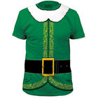NEW Santa Helper Elf Christmas Costume Outfit Suit Adult Sizes T-shirt top tee
