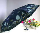 Portable Folding AUTO Open & Close Windproof SILVER COATING anti-UV Umbrella NEW