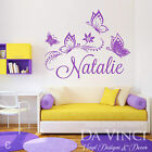 Personalized Custom Butterflies Butterfly Flower Name Vinyl Decal Sticker Wall