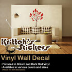 TREE & LEAVES #3 Vinyl Wall Decal (Available in Various Sizes and Colors) K475-W