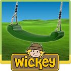 WICKEY Kids KBT Plastic Swing Seat + Ropes for Climbing frame tower or Swing Set