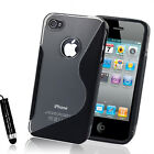 NEW STYLISH GRIP S LINE SERIES CASE COVER FITS IPHONE 4 4S FREE SCREEN PROTECTOR
