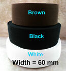 60 mm wide strach waistband Towel elastic belt craft sewing white black brown