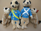 Soft Toy Meerkats - Soldier Style or Cuddly and Cute!