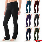 YOGA Fitness Foldover Pants Flare Leg Slim Fit Heavy Thick Quality T Party