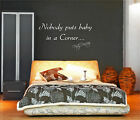 NOBODY PUTS BABY IN A CORNER DIRTY DANCING WALL STICKER QUOTE FILM ART